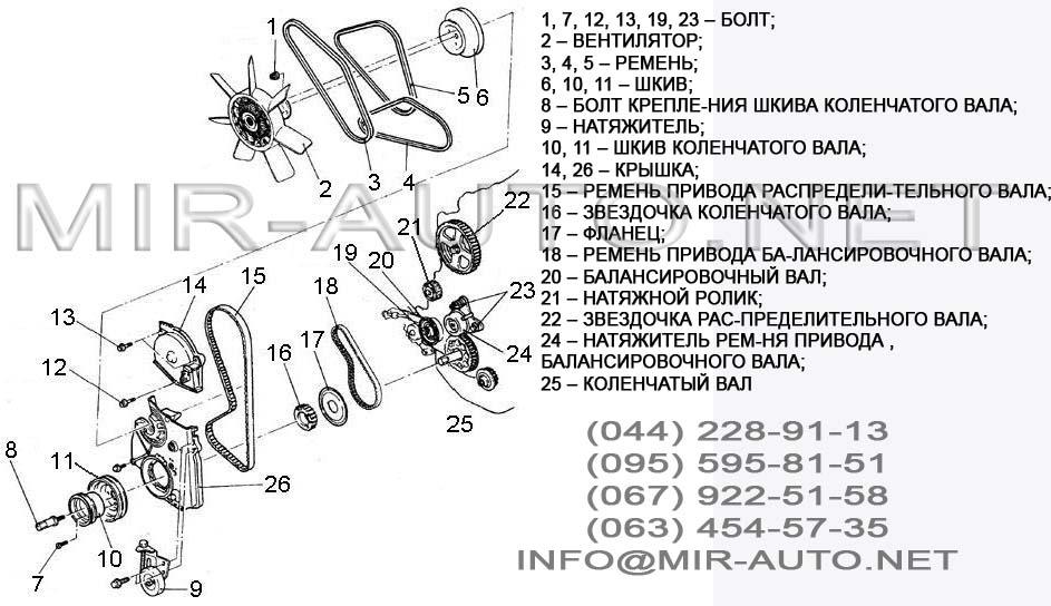 Замена ремня грм на ховер н3 схема